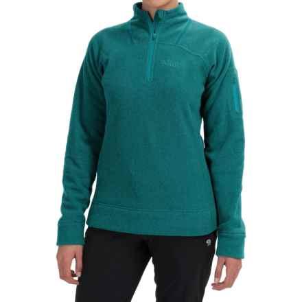 Rab Eclipse Fleece Jacket - Zip Neck (For Women) in Tasman - Closeouts