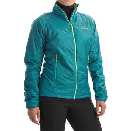 Rab Ether X PrimaLoft® Jacket - Insulated (For Women) in Tasman/Chartreuse - Closeouts
