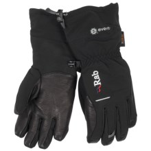 Rab Ice Gauntlet PrimaLoft® Gloves - Waterproof, Leather Palm (For Women) in Black - Closeouts