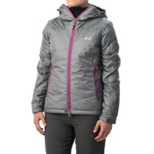 Rab Inferno Hooded Jacket - Insulated (For Women) in Smoke - Closeouts