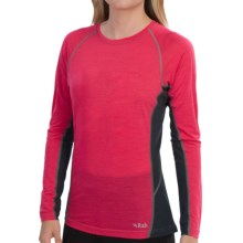 Rab Meco 120 Base Layer Top - Long Sleeve (For Women) in Dragonfruit - Closeouts