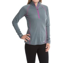Rab Meco 165 Base Layer Top - Zip Neck, Long Sleeve (For Women) in Smoke - Closeouts