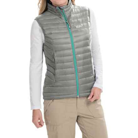 Rab Microlight Vest - 750 Fill Power (For Women) in Gargoyle/Sargasso - Closeouts