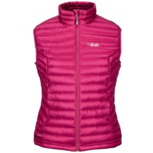 Rab Microlight Vest - 750 Fill Power (For Women) in Orchid - Closeouts