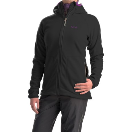 Rab Odyssey Fleece Jacket - Full Zip (For Women) in Black