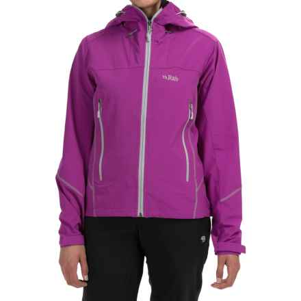Rab Sawtooth Soft Shell Hoodie - UPF 30+ (For Women) in Lupin - Closeouts