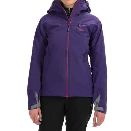 Rab Sentinel Soft Shell Jacket (For Women) in Juniper/Peony - Closeouts