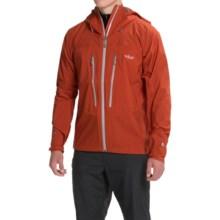 Rab Spark Pertex® Shield+ Hooded Jacket - Waterproof (For Men) in Burnt Umber - Closeouts
