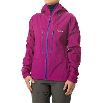 Rab Spark Pertex Shield+® Jacket - Waterproof (For Women) in Peony - Closeouts