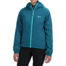 Rab Strata Polartec® Alpha Hooded Jacket - Insulated (For Women) in Merlin - Closeouts