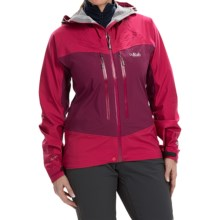 Rab Stretch Polartec® NeoShell® Jacket - Waterproof (For Women) in Rose - Closeouts