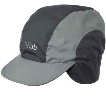 Rab Vapour-Rise Lite Cap - Ear Flaps, Tricot Lined (For Men) in Beluga - Closeouts