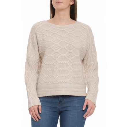 Rachel Ashwell Boat Neck Pullover Sweater (For Women) in Agate Heather - Closeouts