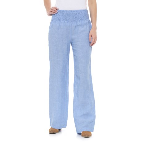 Rachel Ashwell Cross-Dye Linen Pants (For Women) in Ski High