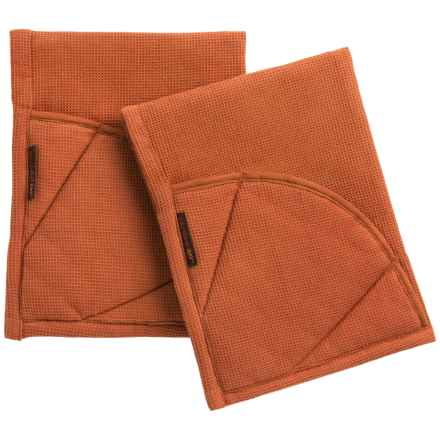 Rachel Ray Moppine Everyday Kitchen Towel - 2-Pack in Burnt Orange - Closeouts