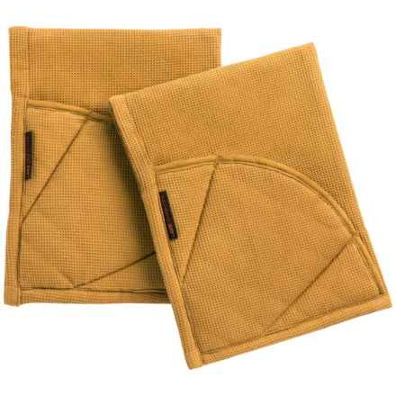 Rachel Ray Moppine Everyday Kitchen Towel - 2-Pack in Mustard - Closeouts