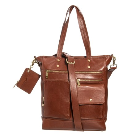 24d1f3698bae Rachel Roy North South Tote Bag - Leather (For Women) in Cognac - Closeouts