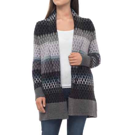 Rachel Roy Ombre Diamond Cardigan Sweater (For Women) in Teal Combo - Closeouts