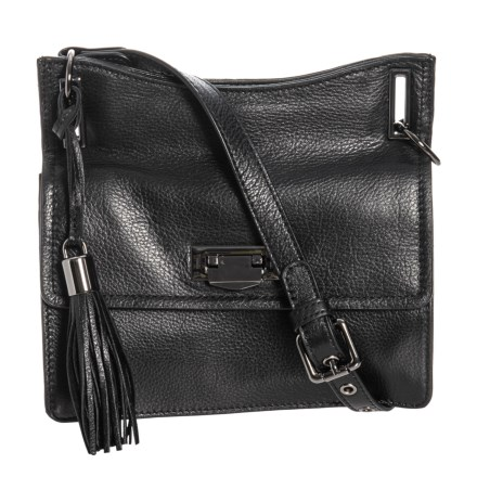ef727a96b6a0 Rachel Roy Small Accordion Crossbody Bag - Leather (For Women) in Black -  Closeouts