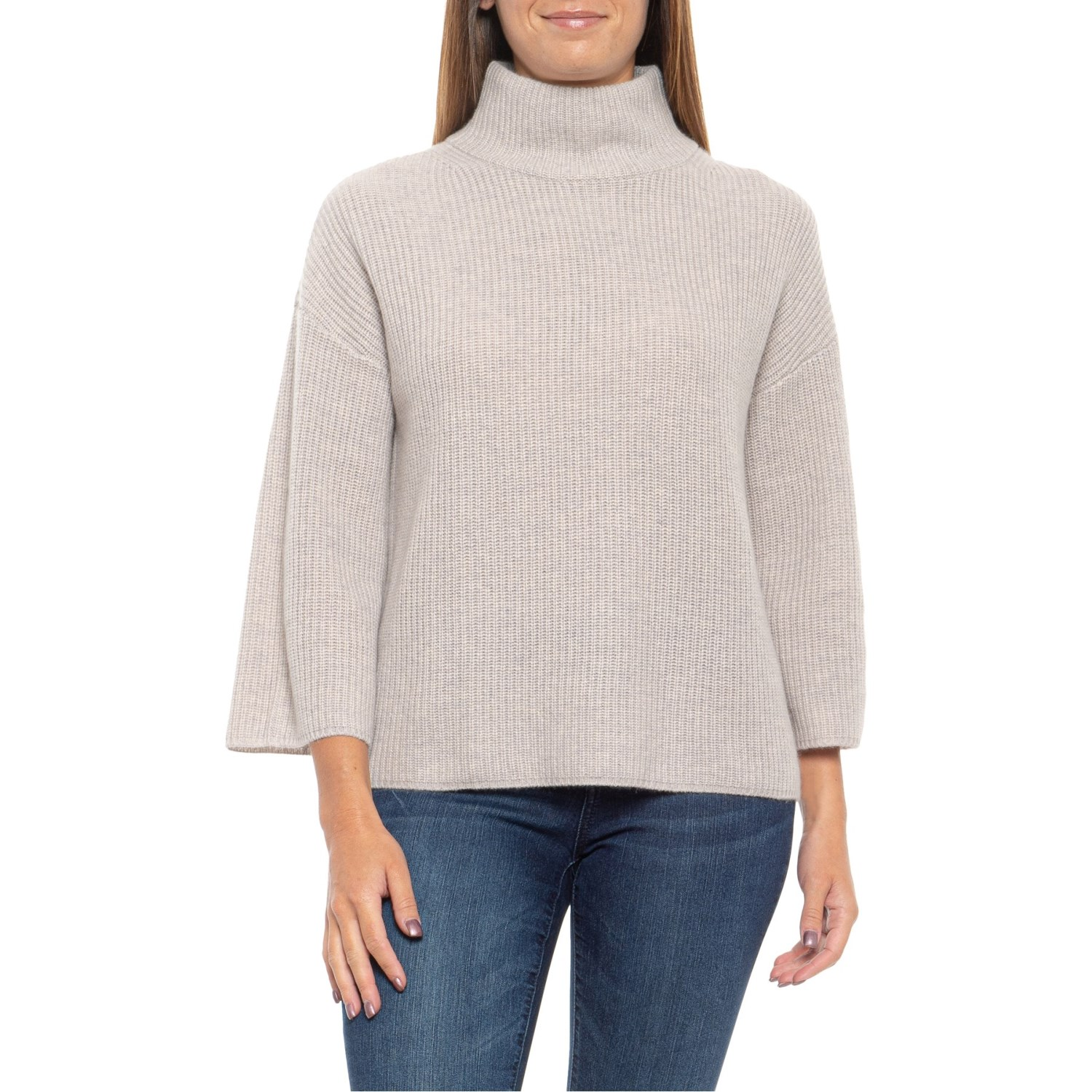 Rachel Zoe Agate Heather Mock Neck Sweater (For Women
