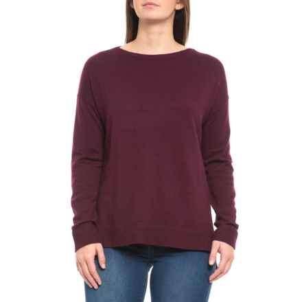 Rachel Zoe Boat Neck Solid Pullover Shirt - Merino Wool, Long Sleeve (For Women) in Blackberry - Closeouts