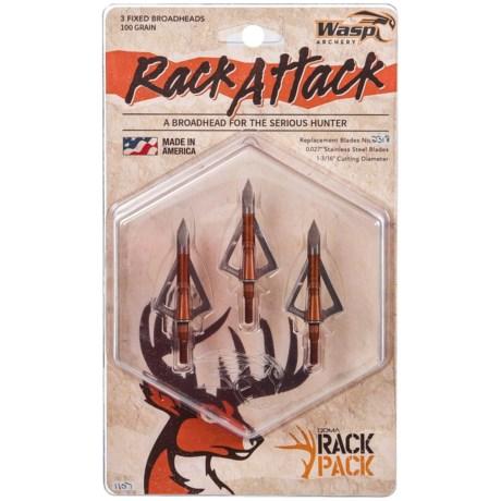 Rack Attack Fixed Broadheads – 3-Pack, 100 Grain