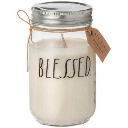 Rae Dunn Blessed Mason Jar Candle - 10 oz. in Gardenia - Closeouts