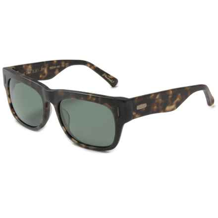 RAEN Lenox Sunglasses - Polarized in Matte Brindle Tortoise/Green - Closeouts