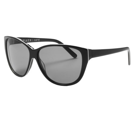 RAEN Optics Nora Sunglasses (For Women) in Black/White Pin Stripe/Smoke
