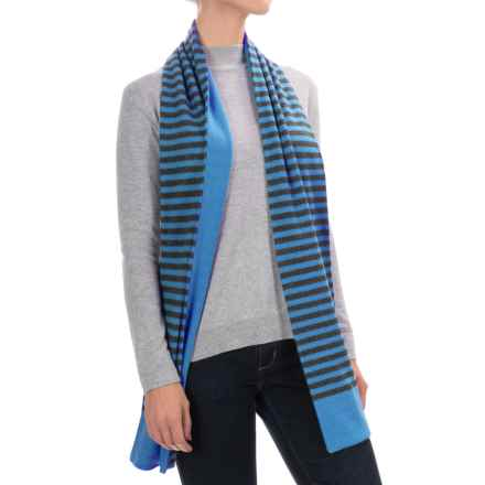 Raffi Double-Layered Cashmere Scarf (For Men and Women) in Capri/Eclipse - Closeouts