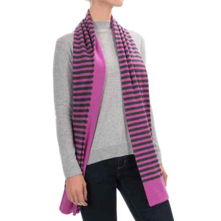 Raffi Double-Layered Cashmere Scarf (For Men and Women) in Peony/Iron - Closeouts