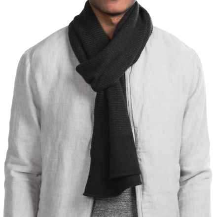Raffi Knit Cashmere Scarf (For Men) in Black/Iron - Closeouts