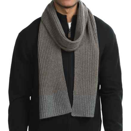 Raffi Knit Cashmere Scarf (For Men) in Granite/Sparrow - Closeouts