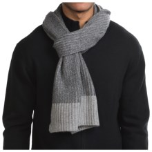 Raffi Knit Cashmere Scarf (For Men) in Iron/Steel - Closeouts
