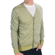 Raffi Lightweight V-Neck Cardigan Sweater - Cotton (For Men) in Butter - Closeouts