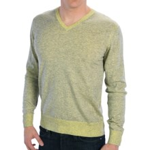 Raffi Lightweight V-Neck Sweater - Cotton (For Men) in Butter - Closeouts