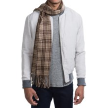Raffi Plaid Woven Cashmere Scarf (For Men) in Espresso - Closeouts