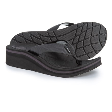 80b7917ee155 Rafters Tsunami Solid Wedge Flip-Flops (For Women) in Black - Closeouts