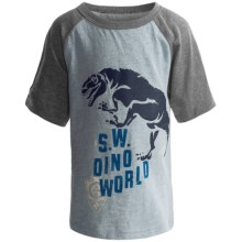 Raglan Graphic T-Shirt - Short Sleeve (For Infant Boys) in Blue - 2nds