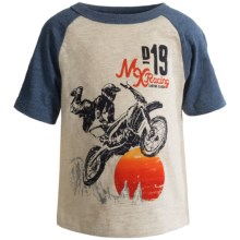 Raglan Graphic T-Shirt - Short Sleeve (For Infant Boys) in Oat - 2nds