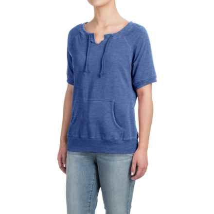 Raglan Sweatshirt - Short Sleeve (For Women) in Blue - Closeouts