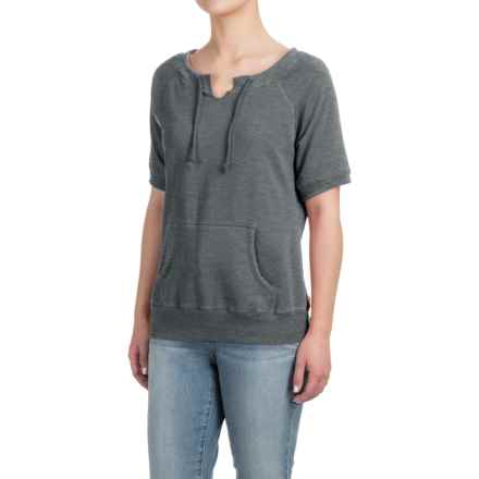 Raglan Sweatshirt - Short Sleeve (For Women) in Charcoal Heather - Closeouts