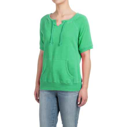 Raglan Sweatshirt - Short Sleeve (For Women) in Green - Closeouts