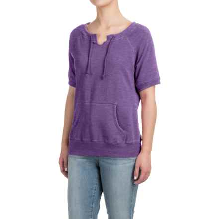 Raglan Sweatshirt - Short Sleeve (For Women) in Purple - Closeouts