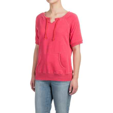 Raglan Sweatshirt - Short Sleeve (For Women) in Red - Closeouts