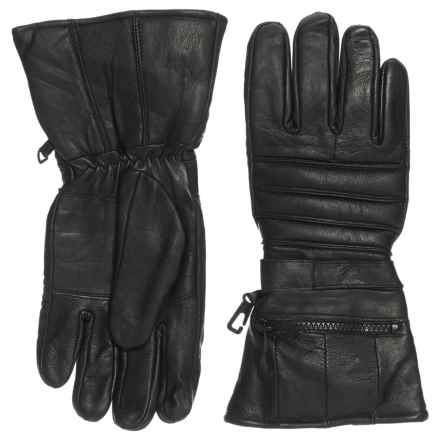 Raider X2 Leather Gauntlet Driving Gloves (For Men) in Black - Closeouts
