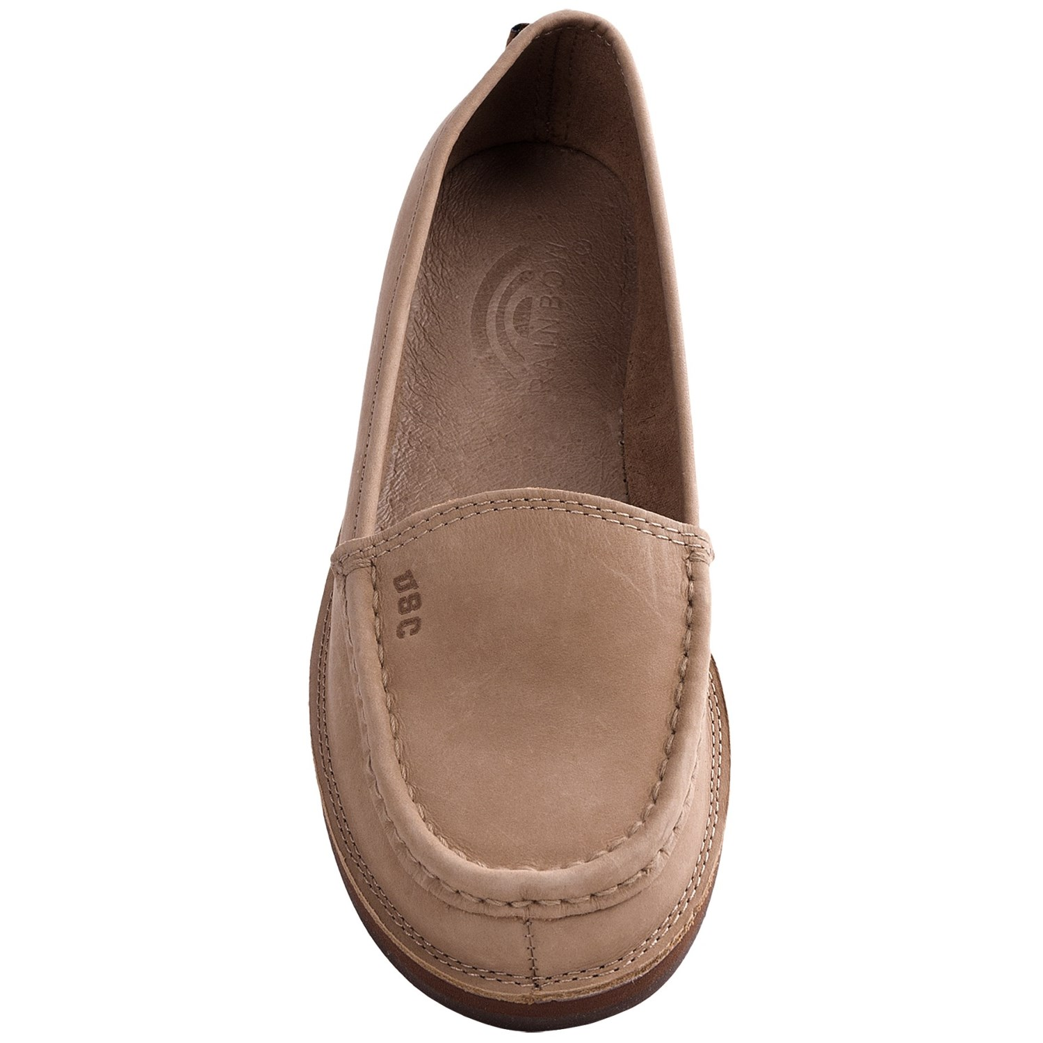 rainbow sandals college logo loafer shoes for women