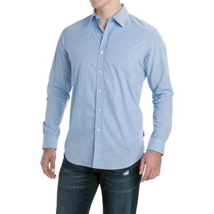 Rainforest Broadcloth Mini-Check Shirt - Long Sleeve (For Men) in Mini Check Lt Blue - Closeouts