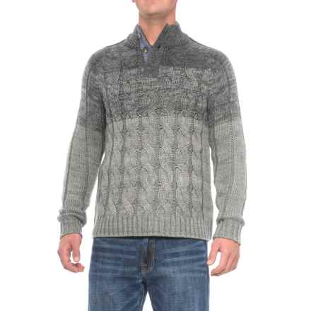 Rainforest Cable Henley Sweater (For Men) in Grey Heather - Closeouts
