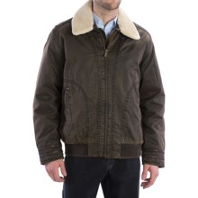 Rainforest Garment- Washed Bomber Jacket - Down Insulated (For Men) in Brown - Closeouts
